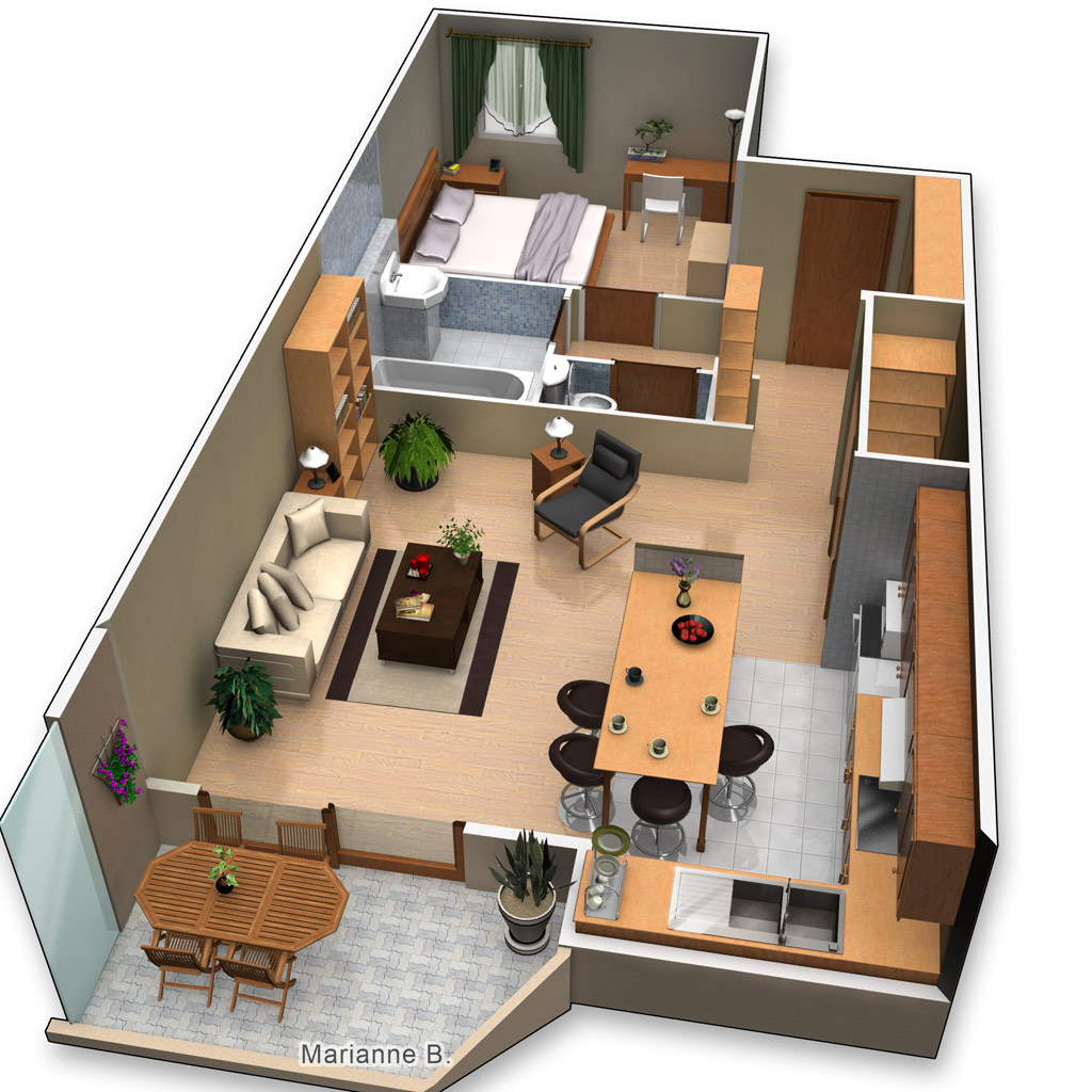 Plan de maison en 3d gratuit for Appartement 3d gratuit